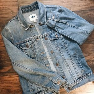 Old navy stretchy blue denim / jean jacket